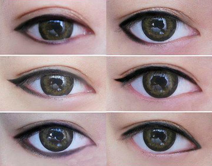 tutorial para delinear ojos asiaticos