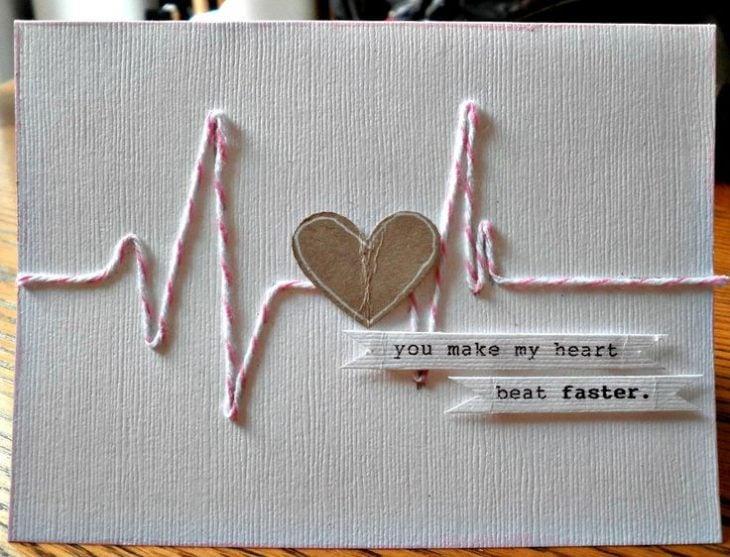tarjeta de amor con latido
