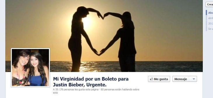 perfil de facebook fan loca de justin bieber pierde virginidad