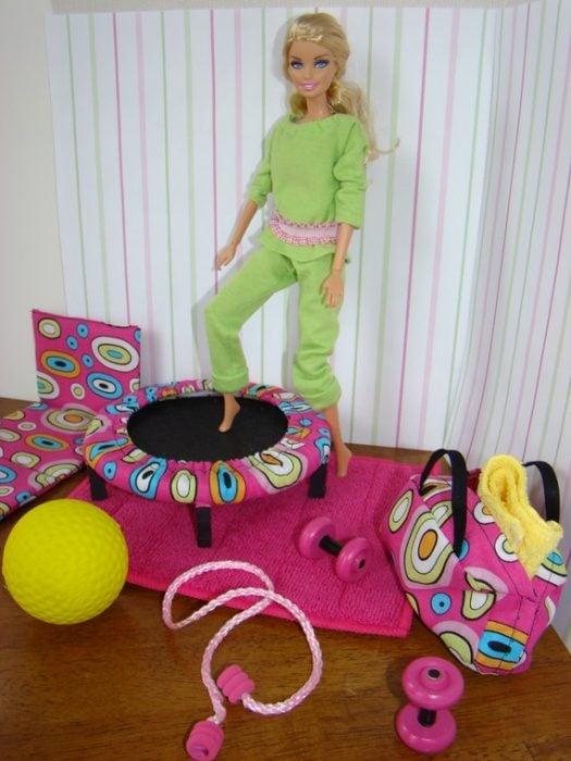 Barbie en su centro de Gimnasio