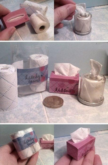 Productos de higiene miniatura para barbie