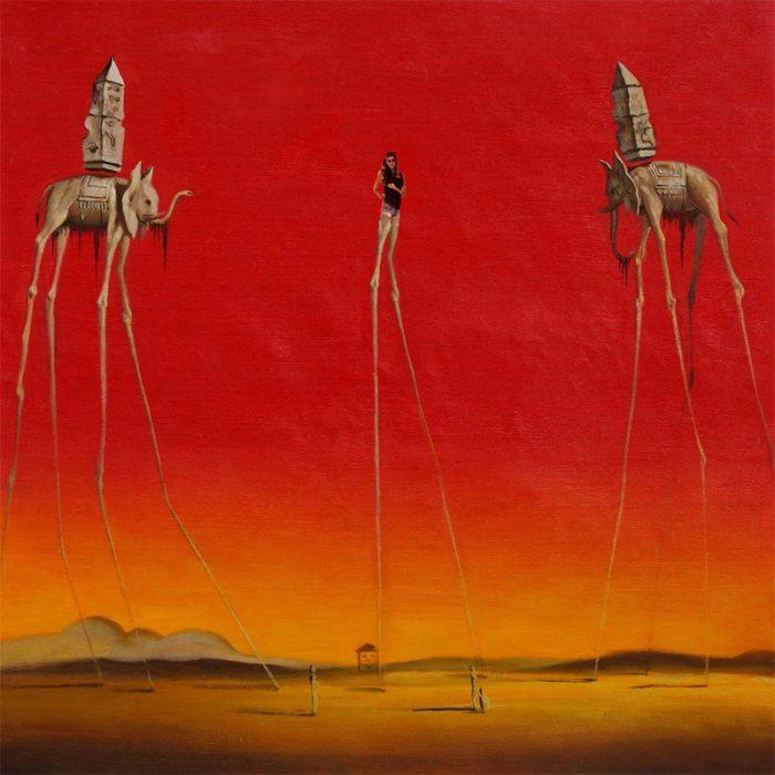 Batalla Reddit chica piernas largas como cuadro de Dalí