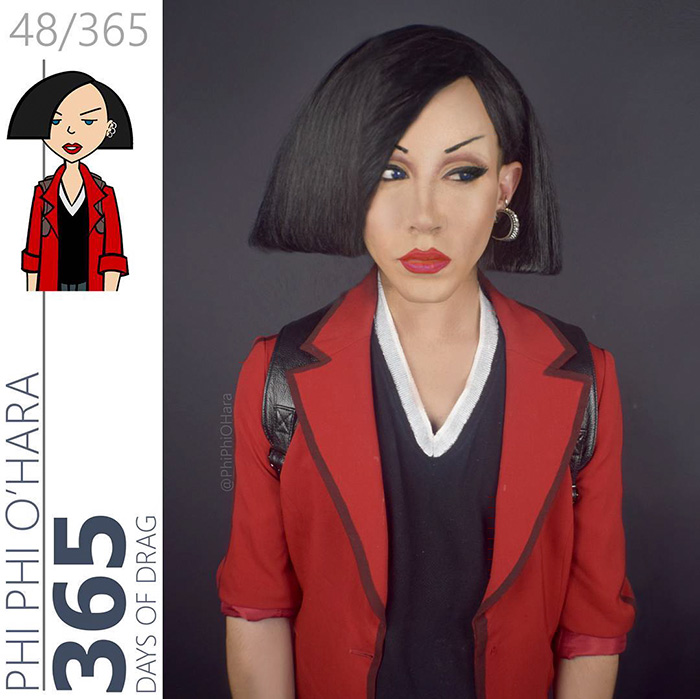 Drag Queen vestida como Jane Lane de Daria
