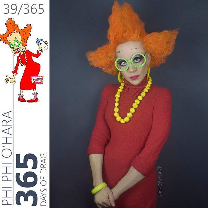 Drag Queen vestida como didi de Rugrats