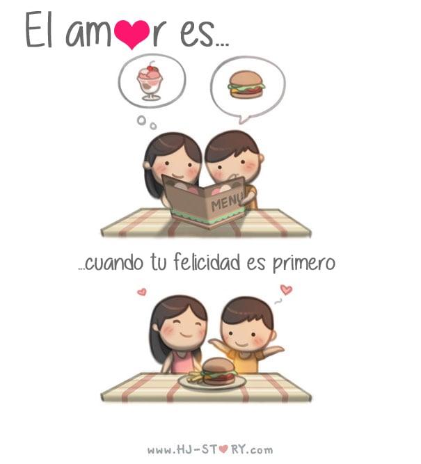Ilustración el amor es