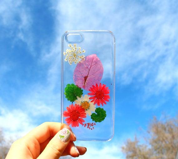 Funda de flores y hojas de colores