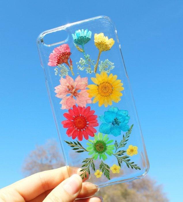 Funda de flores de colores