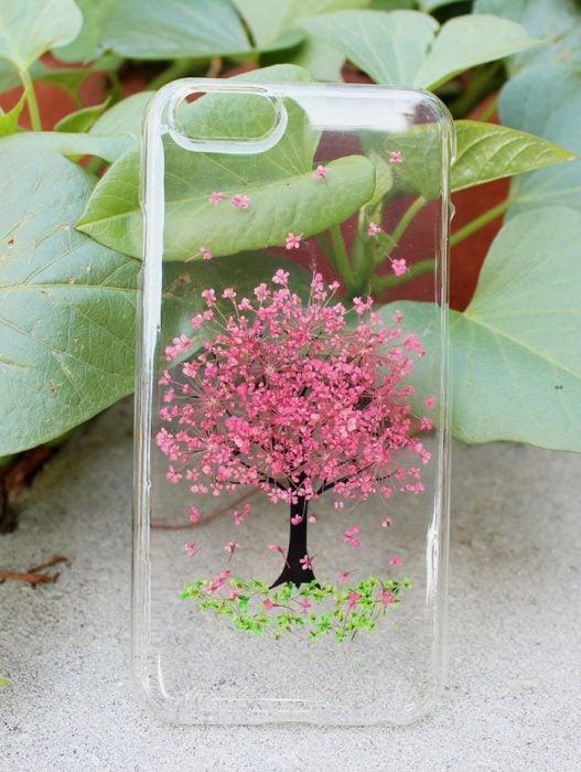 Funda de flores diseño árbol de cerezo