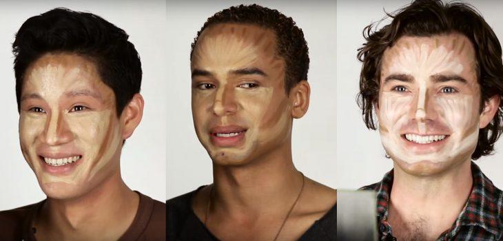 Hombres contornean su rostro (1)