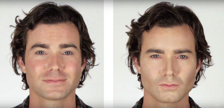 Hombres contornean su rostro (3)