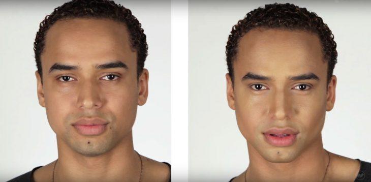 Hombres contornean su rostro (5)