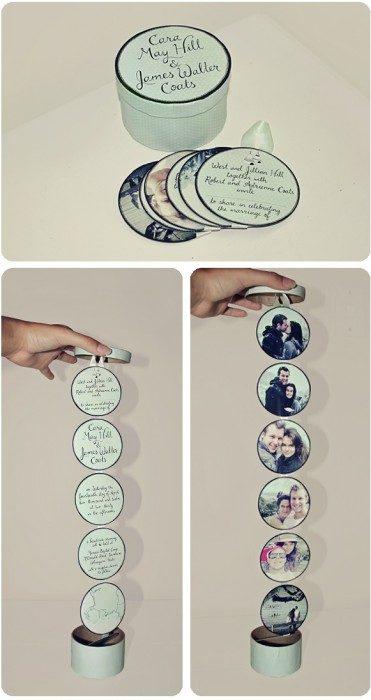 Invitación de boda en forma de platos