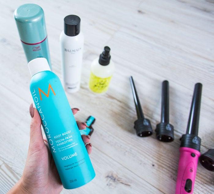 productos para el cabello azul y rosa