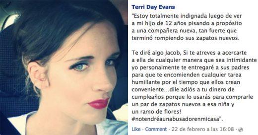 La polémica publicación de una madre que puso en ridículo a su hijo por molestar a una compañera