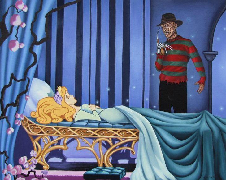 Aurora y Freddy Krueger