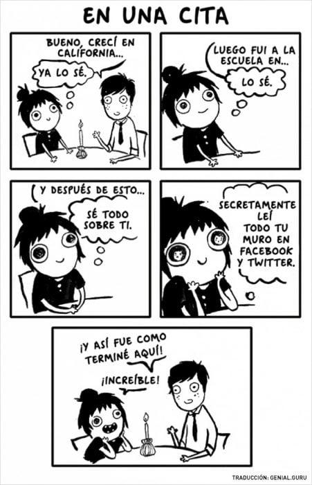 Ilustración cuando vas a una primera cita