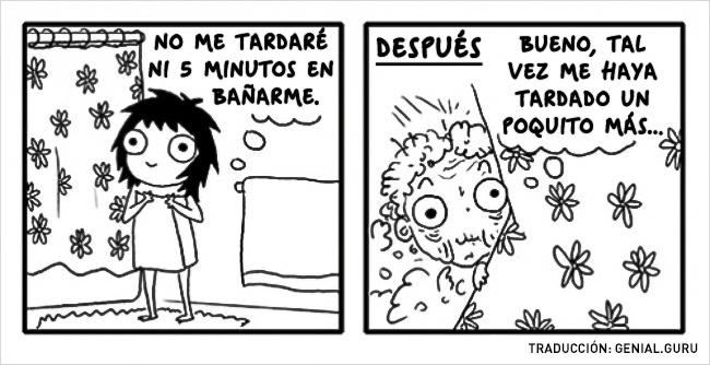 Ilustración cuando te metes a bañar