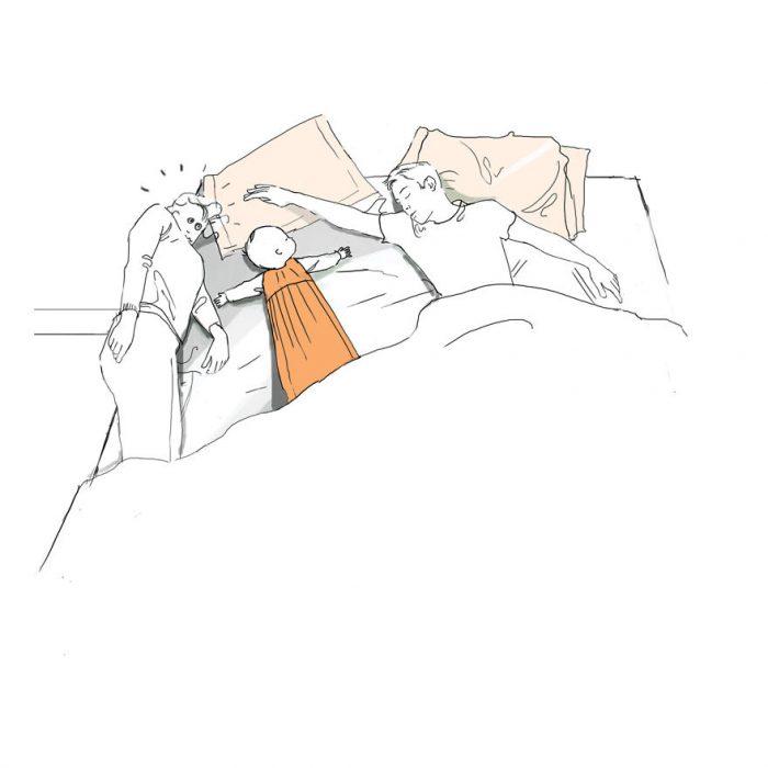 Ilustración cuando es hora de dormir