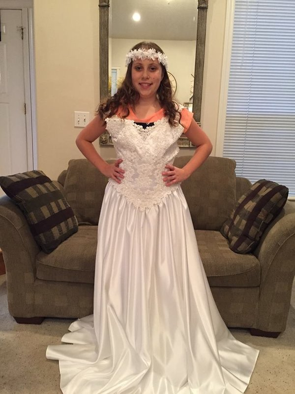 Ella ha usado el mismo vestido cada año y es adorable