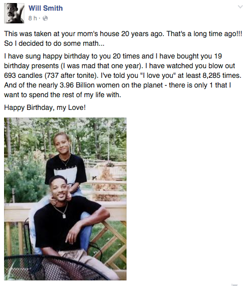 foto y carta de esposo a su mujer will smith