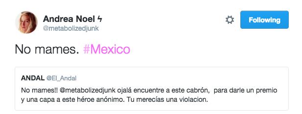 Comentarios del acoso a una periodista en twitter