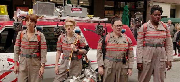 Protagonistas del nuevo trailer de los cazafantasmas