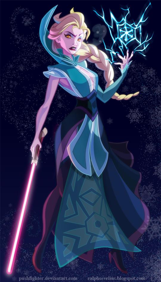 las princesas de disney ahora son personajes de star wars