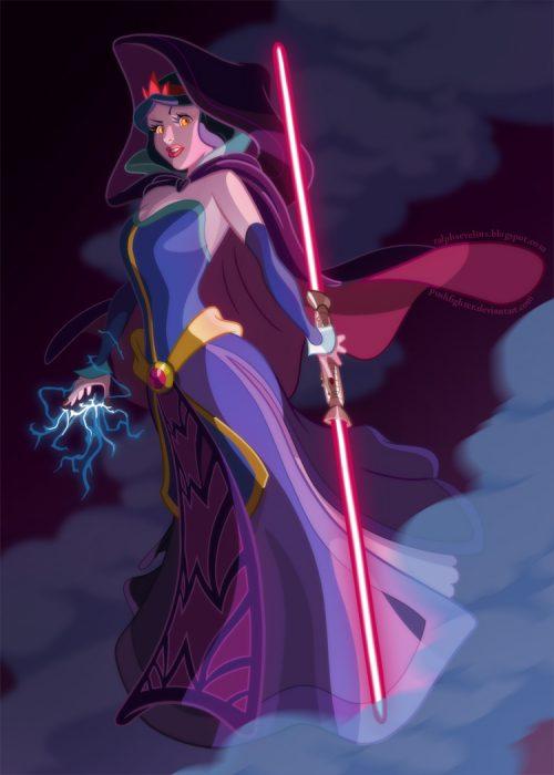 Princes Blanca Nieves convertida en un personaje de Star Wars