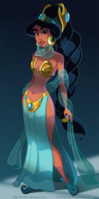 Princesa jasmine convertida en un personaje de Star Wars
