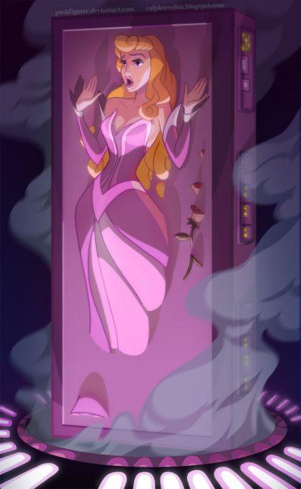 Princesa aurora convertida en un personaje de Star Wars