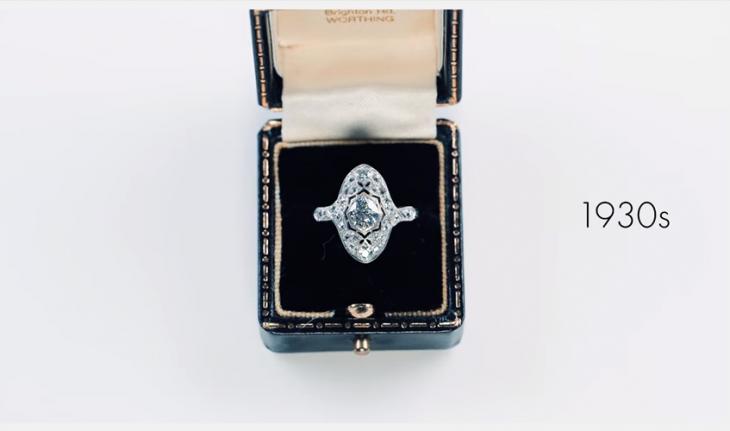 anillo de compromiso mode estilo 1930s