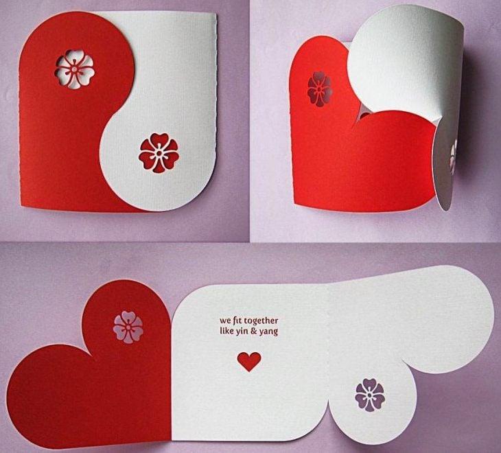 tarjeta de amor de ying y yang
