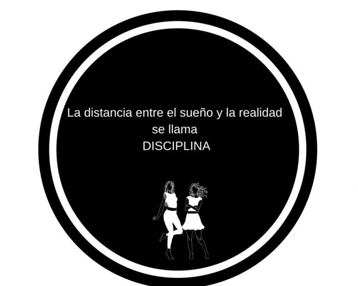 frase en ilustracion sobre la disciplina