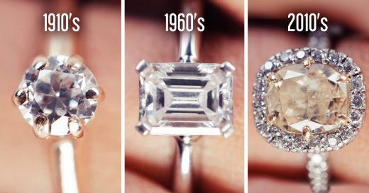 100 años en anillos de compromiso