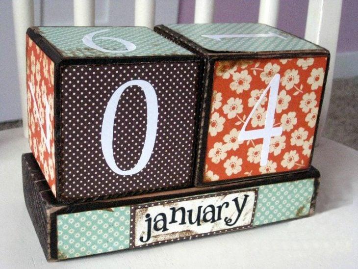 calendario para fecha especial regalo de enamorados