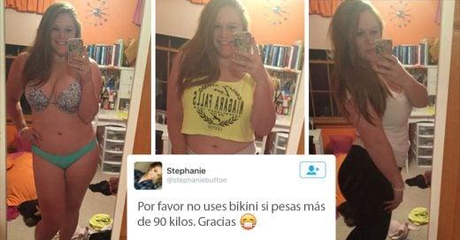 chica de 90 kilos sacude las redes sociales publicando sus fotos