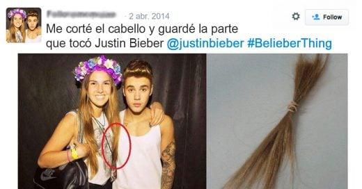 15 raras y perturbantes cosas que han hecho las fans de Bieber.