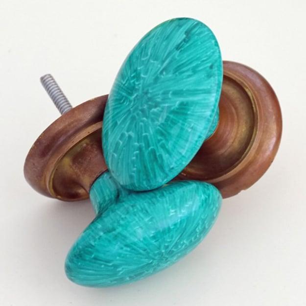 perillas para puerta con sharpie azul