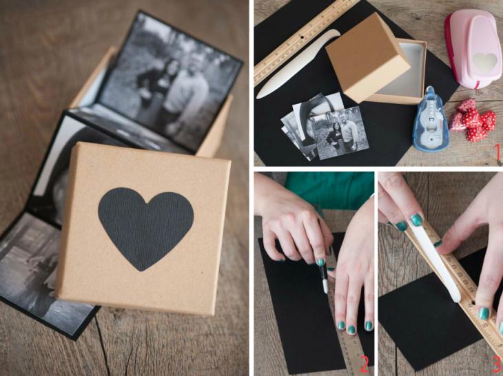 caja de fotografías para regalo de pareja