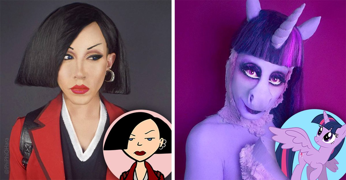 Drag Queen recrea personajes de caricaturas de los 90