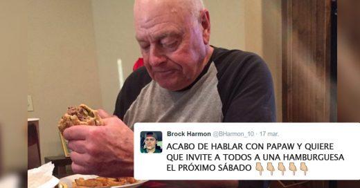 El abuelo más triste invita hamburguesas a todos el próximo sábado