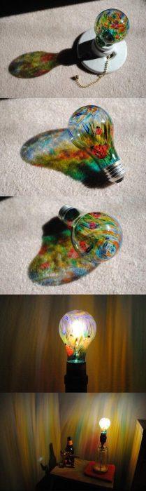 focos decorados con sharpie