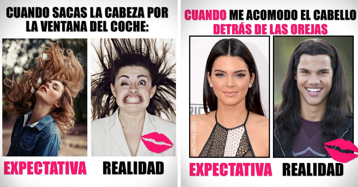 Imágenes de expectativa vs realidad