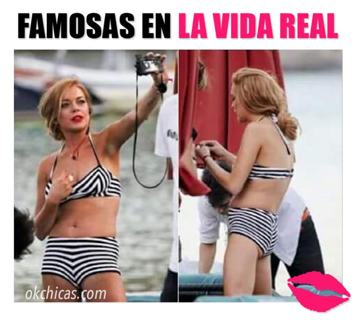 expectativa vs realidad mujeres famosas en la vida real