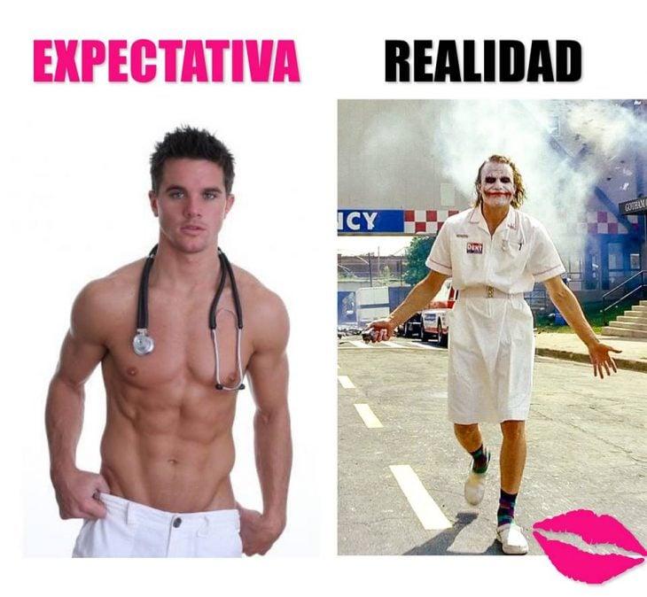 expectativa vs realidad hombres enfermeros