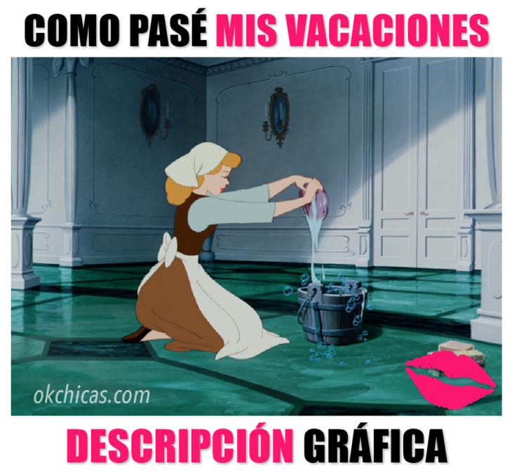 mujeres y situaciones de expectativa vs realidad mujer lavando piso