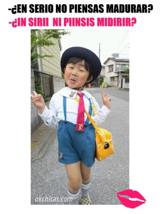 expectativa vs realidad niño chino haciendo cara bonita de risa