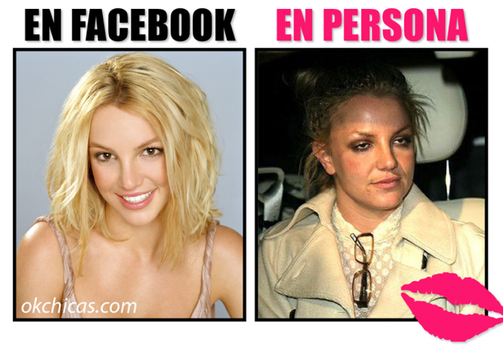 expectativa vs realidad mujer linda en facebook