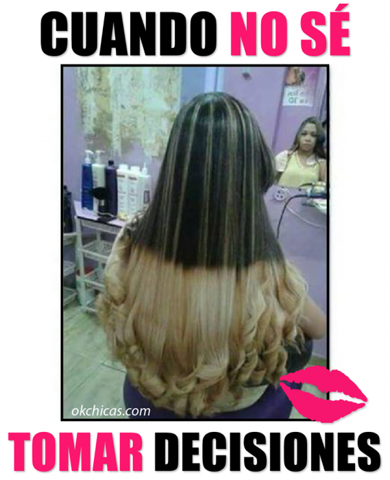 expectativa vs realidad cabello largo con mechas californianas