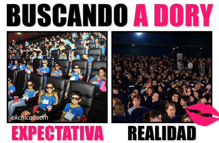 expectativa vs realidad premiere de pelicula en el cine dory